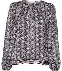 insanely right blouse blouse lange mouwen grijs odd molly