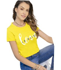 camiseta adulto femenino amarillo marketing  personal