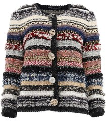 dolce & gabbana tweed jacket with jewel buttons