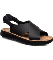 oruga sandal shoes summer shoes flat sandals svart camper