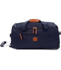brics x-bag 21-inch rolling carry-on duffle bag - blue