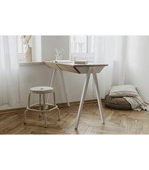 białe biurko z szufladami vogel s