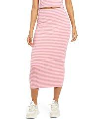 women's afrm torino tube midi skirt, size large - pink