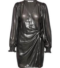 hanny wrap dress 11345 kort klänning svart samsøe & samsøe