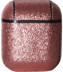 nimitec metallic genuine leather airpods case guard