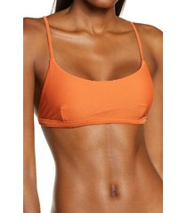 women's seafolly essentials bralette bikini top, size 4 us - orange
