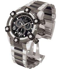 reloj invicta modelo 338_out acero, gunmetal hombre