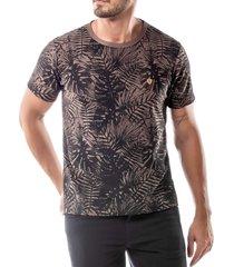 camiseta estampa floral no stress  - kanui