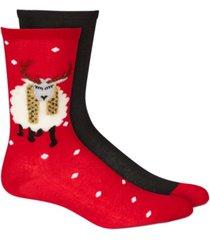 hue women's 2-pk. stocking stuffer crew socks