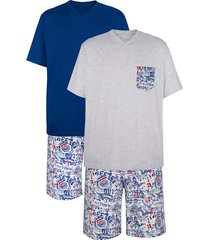 pyjamas g gregory kungsblå::vit