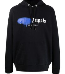 ny sprayed hoodie, black