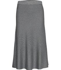 skirts flat knitted knälång kjol grå esprit collection
