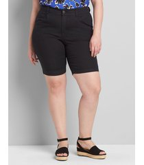 lane bryant women's curvy fit slim bermuda short 12 black