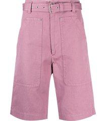 isabel marant belted chino shorts - pink