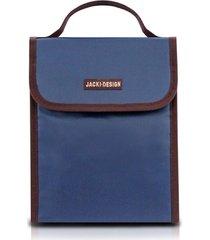 bolsa térmica jacki design essencial iii azul escuro - tricae