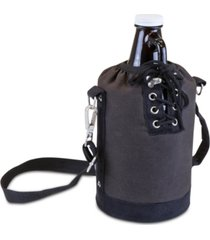 legacy by picnic time insulated gray & black growler tote