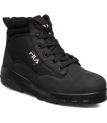 grunge ii mid wmn shoes boots ankle boots ankle boots flat heel svart fila
