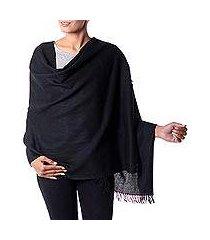 wool shawl, 'dark fantasy' (india)