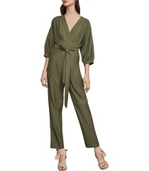 faux-wrap jumpsuit