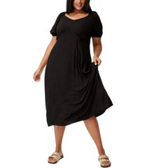 trendy plus size mary midi dress