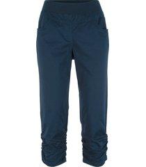 pantaloni capri con arricciature (blu) - bpc bonprix collection