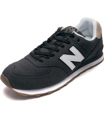 tenis lifestyle gris-blanco-beige new balance classic traditionnels 574