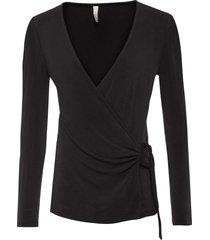 maglia a maniche lunghe con fibbia decorativa (nero) - bodyflirt boutique