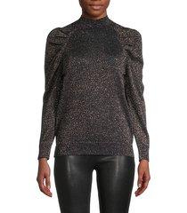 artima puff-sleeve shimmer sweater