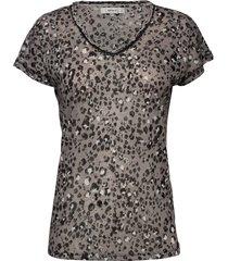 sc-aretha blouses short-sleeved svart soyaconcept