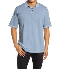 men's john elliott meadow cotton polo shirt, size xx-large - blue