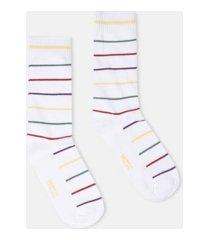 wesc kennedy multi stripe crew socks, 2 pack