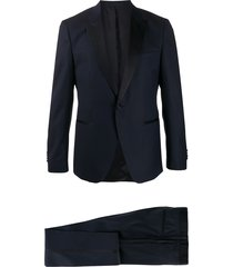 boss formal two-piece suit - blue