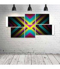 quadro decorativo - x-marks-the-spot-abstract-s - composto de 5 quadros