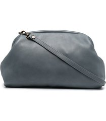 officine creative slouchy leather clutch - blue