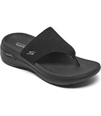 skechers women's go walk arch fit - weekender arch support thong flip flop walking sandals from finish line