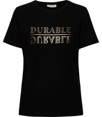 fqfenja-tee-durable t-shirts & tops short-sleeved svart free/quent