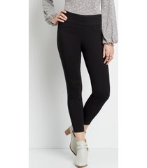 maurices womens black textured bengaline skinny ankle pants