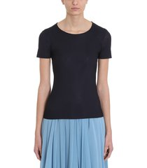 jil sander basic black jersey t-shirt