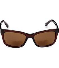 the highline 54mm square reading sunglasses