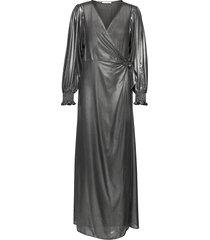 hanny l wrap dress 11345 maxiklänning festklänning grå samsøe samsøe