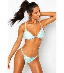 tie dye itsy bitsy triangle bikini, green