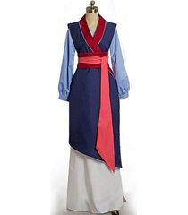 princess fa mulan costume mulan cosplay blue dress women halloween fancy outfit
