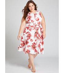 lane bryant women's floral short lena dress 14 spring floral