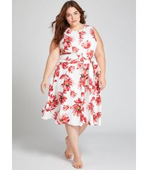 lane bryant women's floral short lena dress 14 spring floral