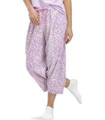 hue animal-print capri pajama pants
