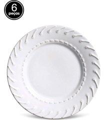 conjunto 6pã§s pratos de sobremesa porto brasil cordon㪠branco - branco - dafiti