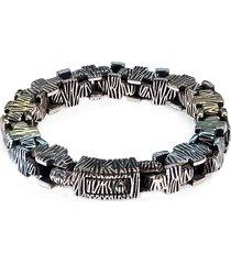 jean claude men's dell arte hard rock stainless steel bracelet