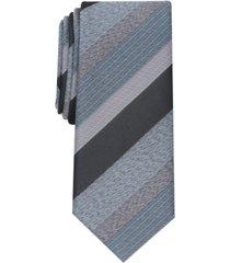 alfani men's cormack striped slim tie, created for macy's