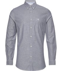chambray slim stretch overhemd casual grijs calvin klein jeans