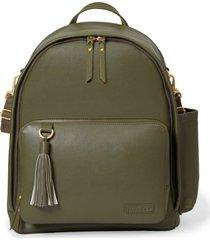 bolsa maternidade skip hop - coleção greenwich simply chic backpack mochila olive